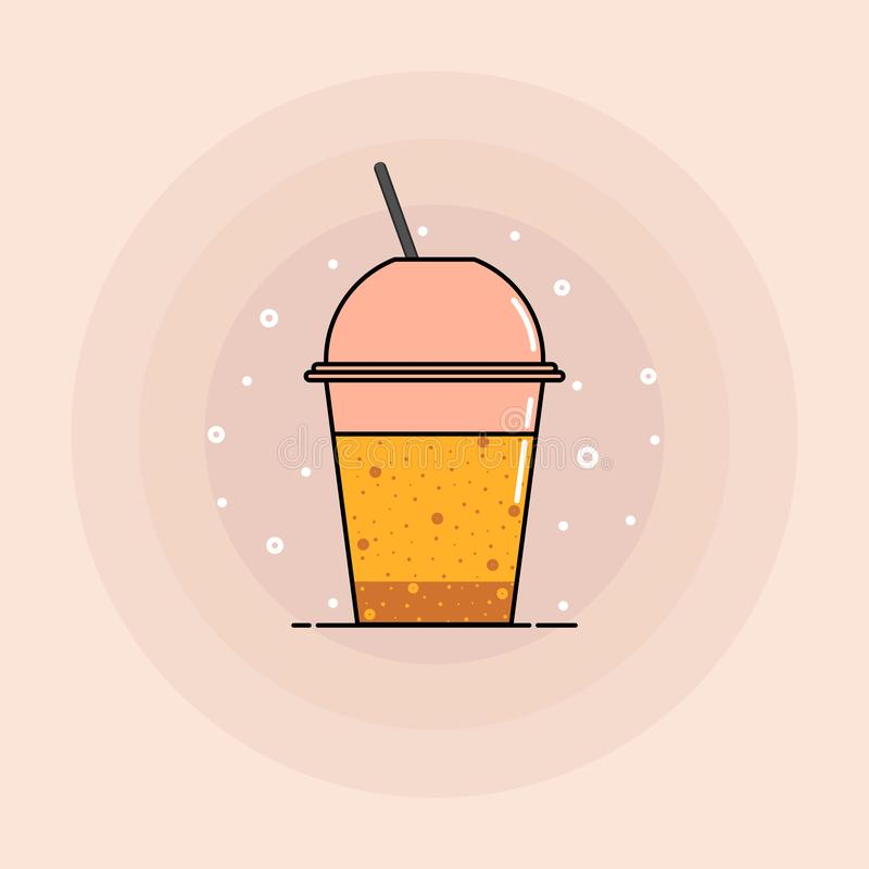 Soda drink vector icon. Vector illustration. Eps10 royalty free illustration