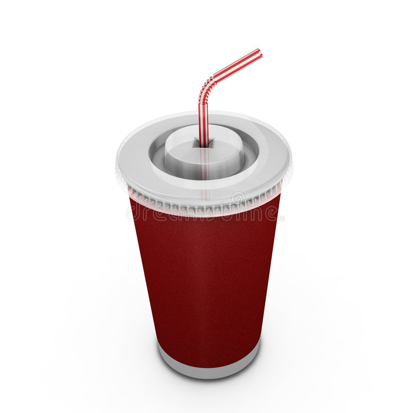 Free Soda Drink With Straw Royalty Free Stock Image - 1064766