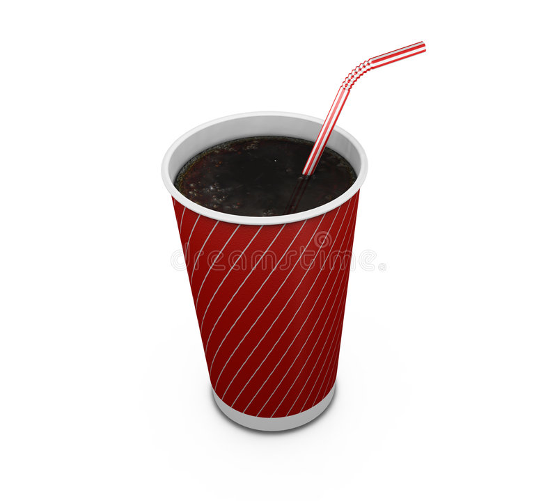 Free Soda Drink With Straw Royalty Free Stock Photos - 1064768