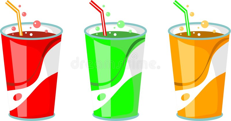 Soda drinks vector illustration