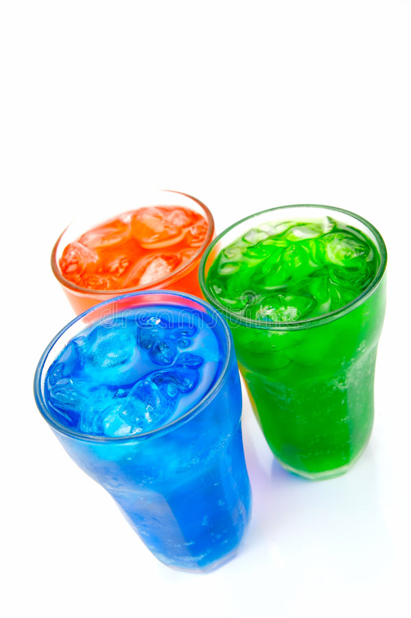 Soda Drinks. Isolated against a white background stock image