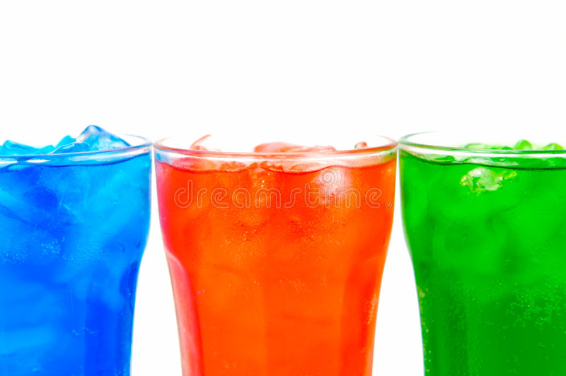 Soda Drinks. Isolated against a white background royalty free stock photos
