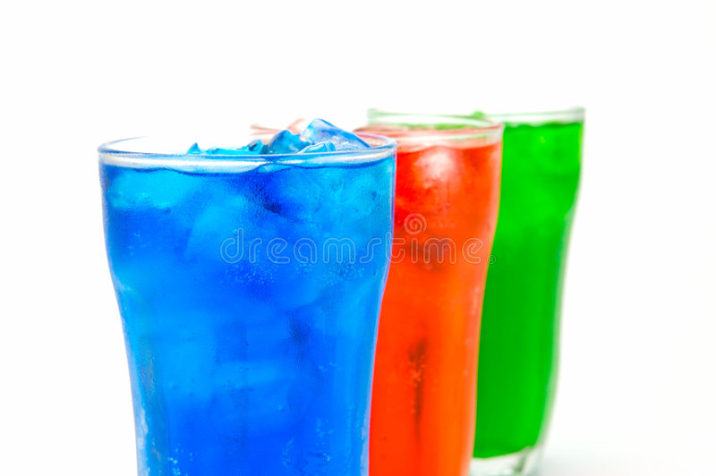 Soda Drinks. Isolated against a white background stock photos