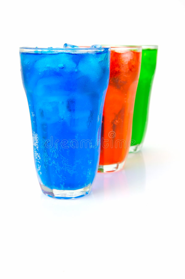 Soda Drinks. Isolated against a white background royalty free stock photo