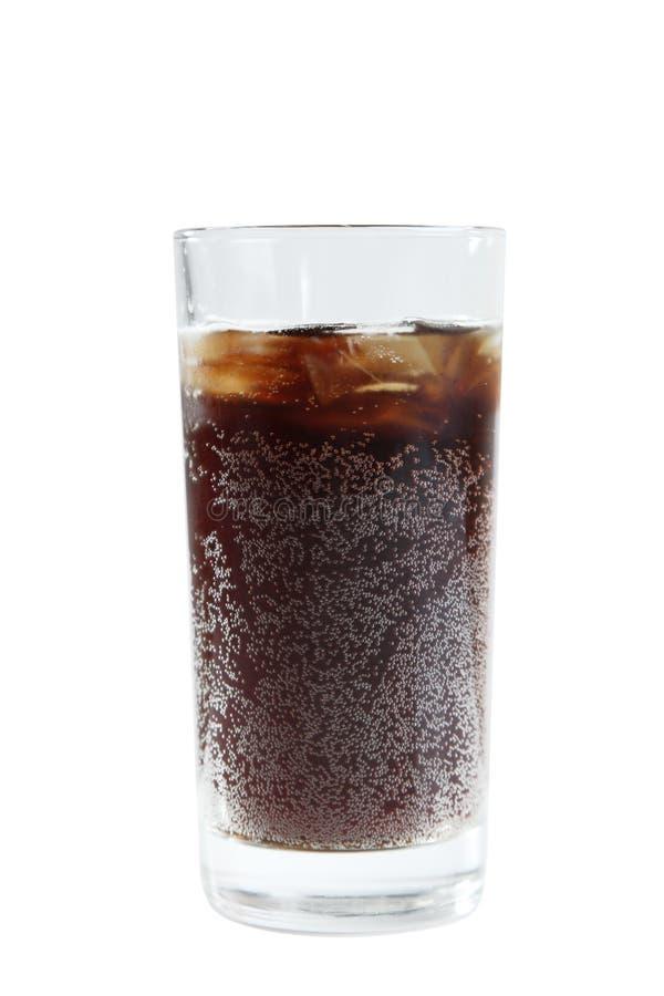 Soda in een glas royalty-vrije stock afbeeldingen