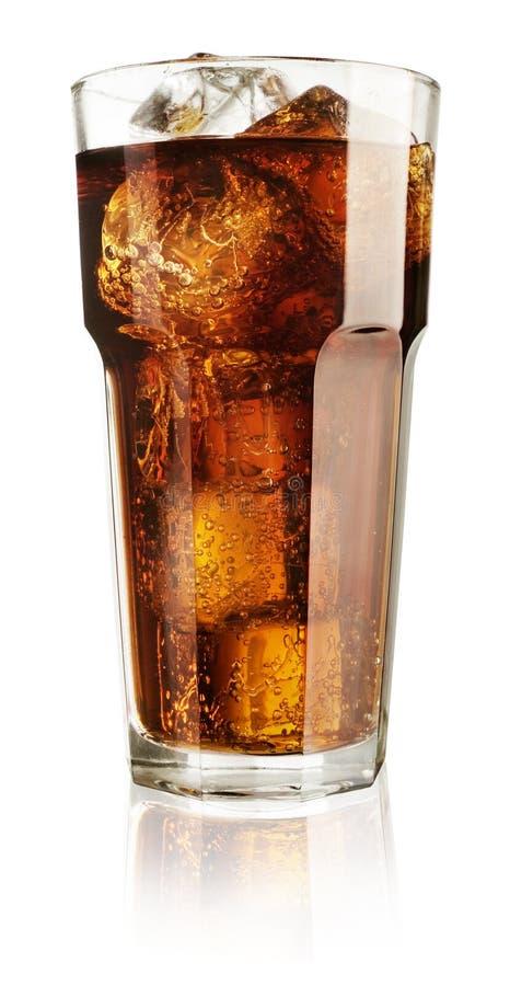 Soda en un vidrio fotografía de archivo
