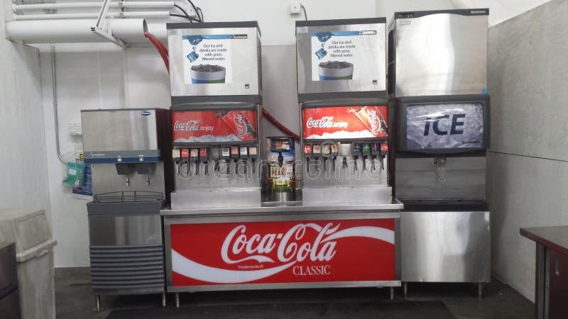 Soda fountain stock photo