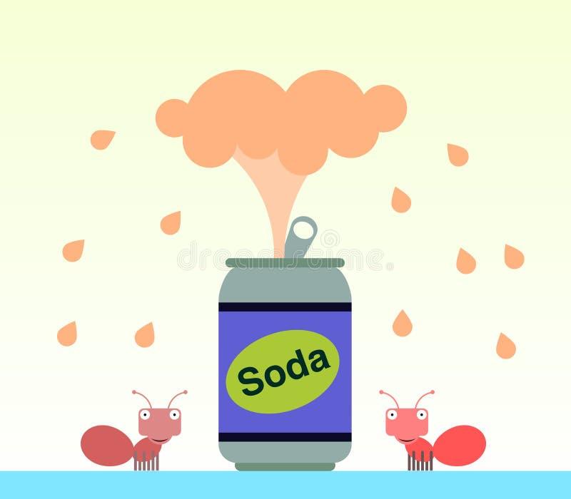 Soda fountain stock illustration