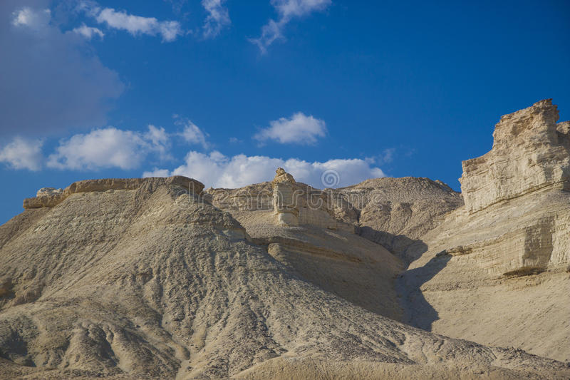 Soda i Gomorrah wzgórza Izrael zdjęcia stock