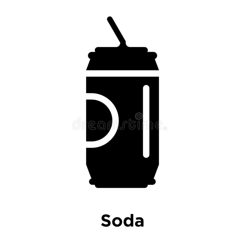 Soda icon vector isolated on white background, logo concept of S royalty free illustration