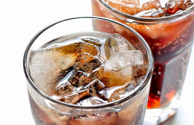 Soda mit Eis stockfoto