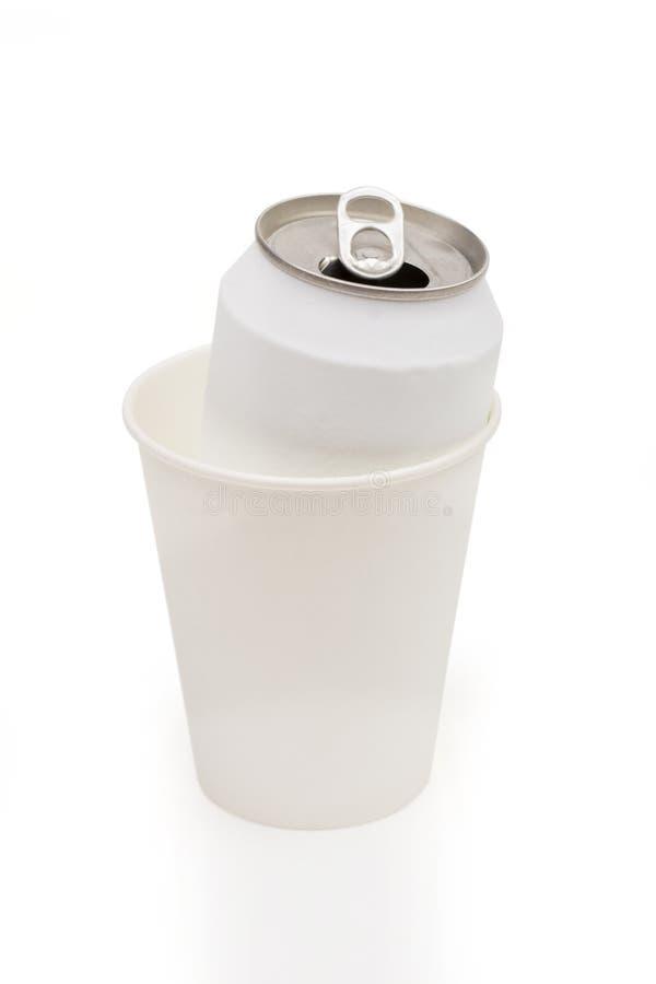 Soda na białym tle obraz stock