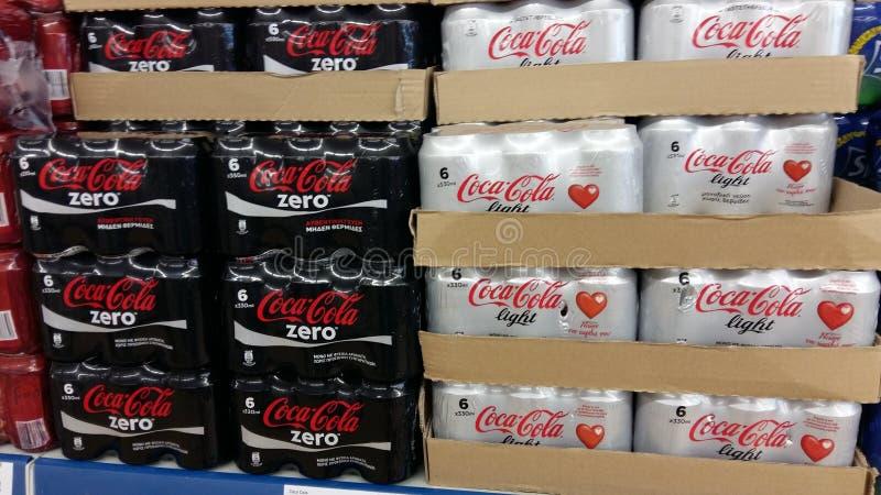 Soda no supermercado foto de stock