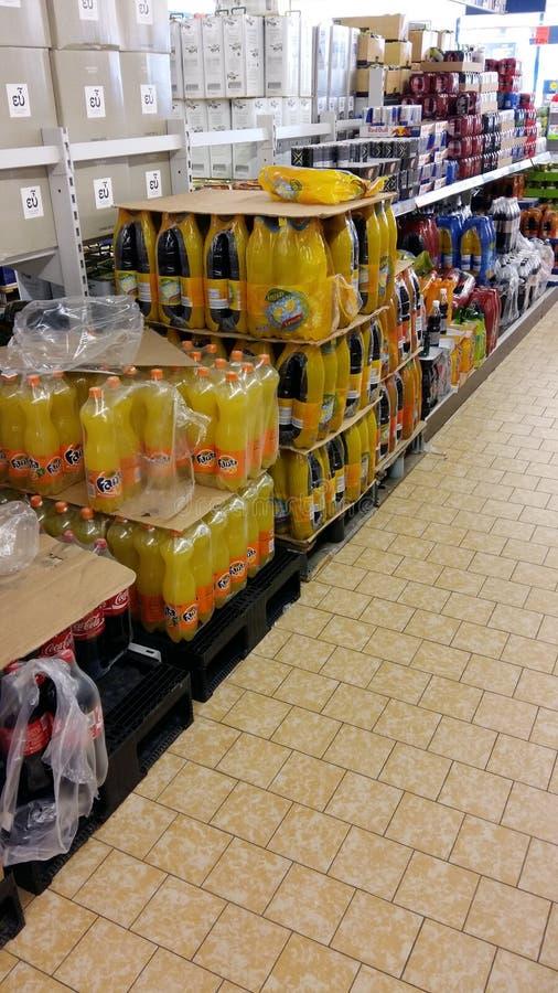 Soda no supermercado imagem de stock royalty free