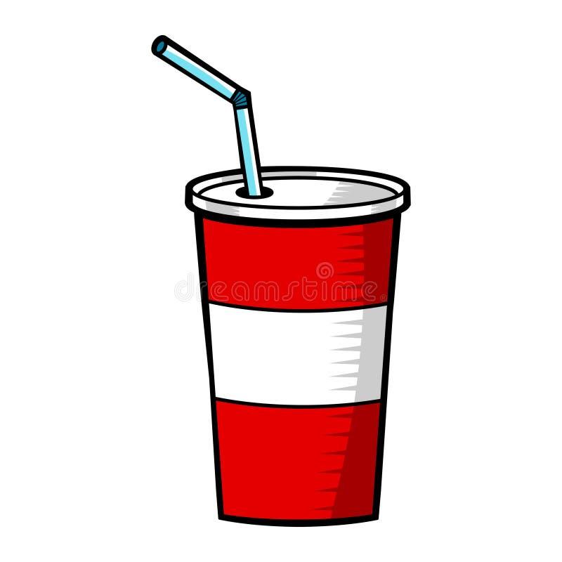 Soda pop fountain drink vector illustration