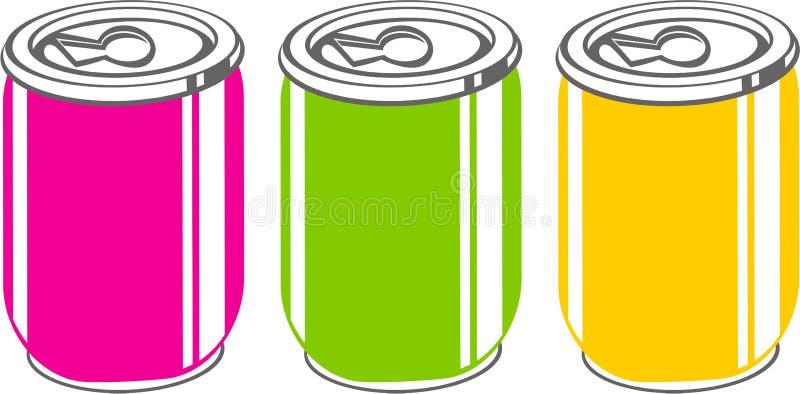 Soda's stock illustratie