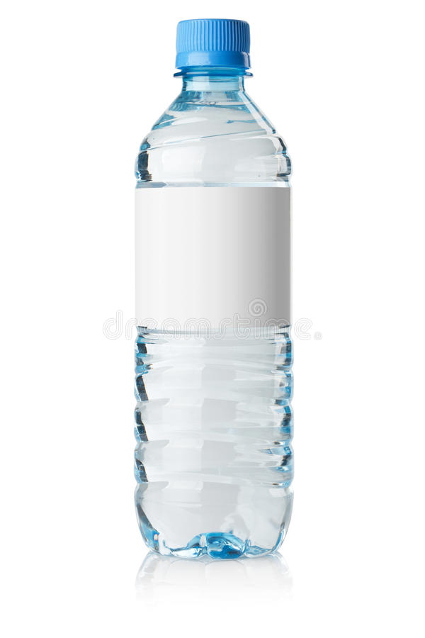 Soda water bottle with blank label royalty free stock images