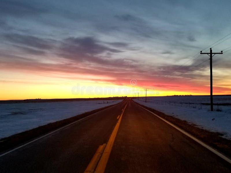 SoDak wschód słońca obraz stock