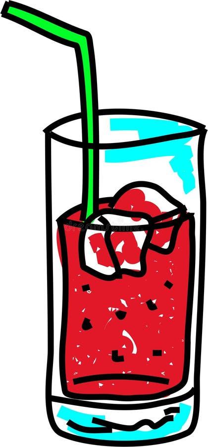 sodavatten stock illustrationer