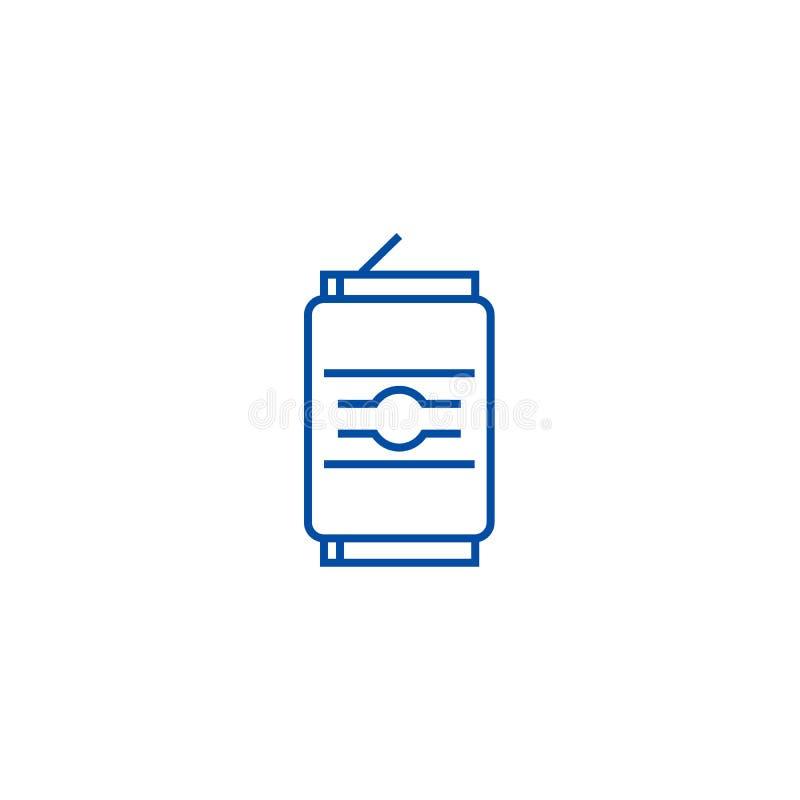 Sodavatten kan fodra symbolsbegrepp Sodavatten kan framlänges vektorsymbolet, tecknet, översiktsillustration stock illustrationer