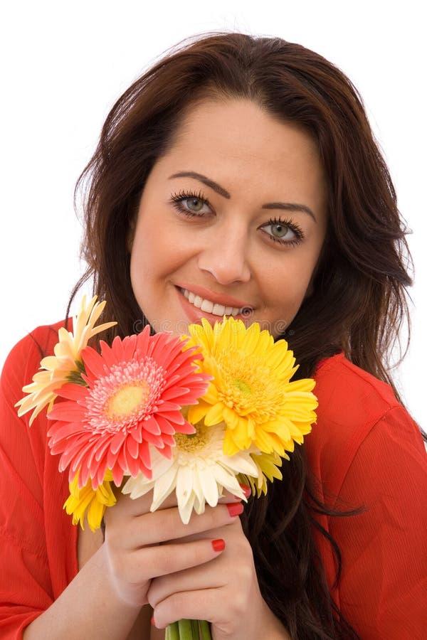 Soddisfatto dei fiori fotografia stock