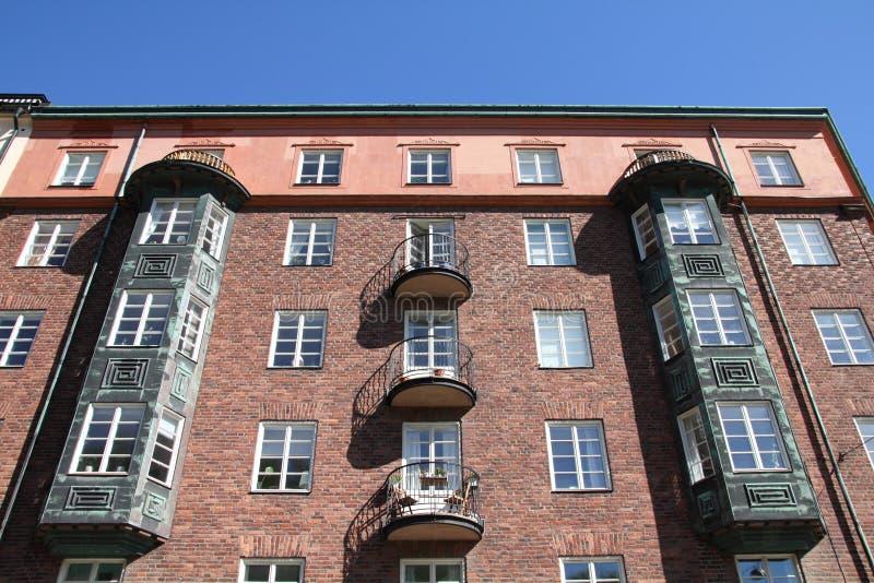 Sodermalm - edifício de apartamento imagem de stock