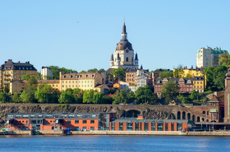 Sodermalm. Stockholm, Zweden royalty-vrije stock afbeeldingen