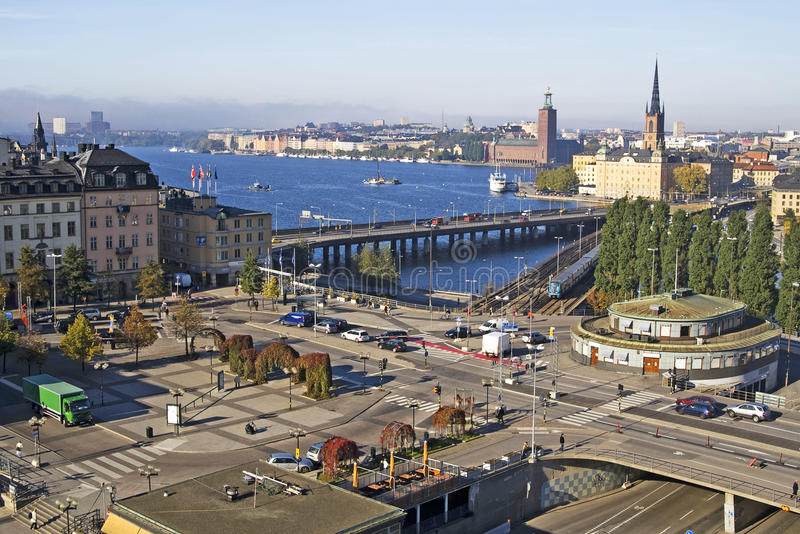 Sodermalms em Éstocolmo, Sweden imagens de stock