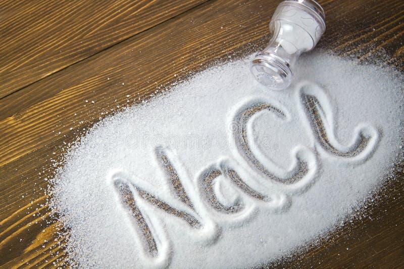 Sodium chlorek - sól fotografia stock