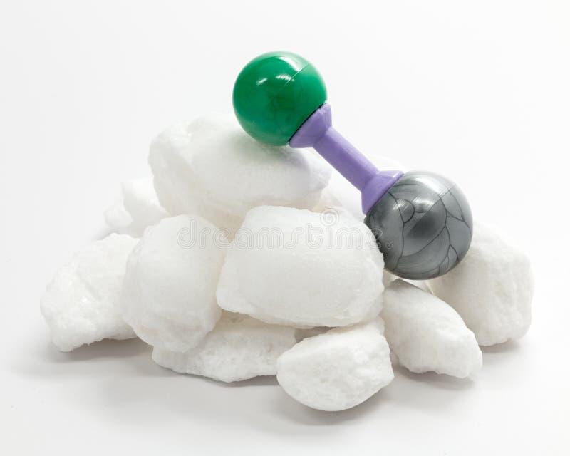 Sodium molekuła kłaść na stercie rockowa sól obraz royalty free