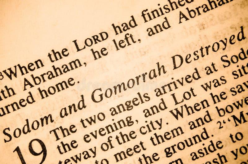 Sodom和罪恶之都毁坏了 库存照片