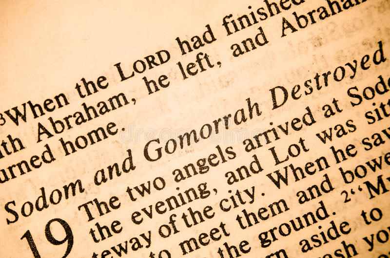 Sodom and Gomorrah Destroyed stock photos