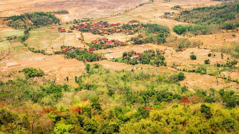 Sodong skog i dess fulla härlighet på Sukabumi, Indonesien arkivbild
