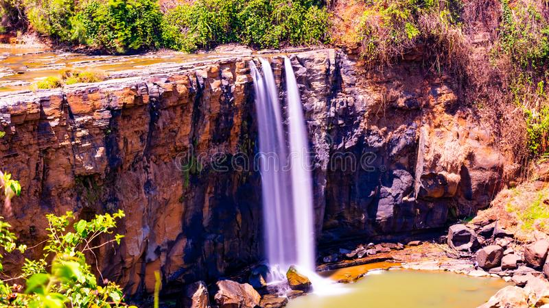 Sodong Forest in its full glory at Sukabumi, Indonesia. Sodong Waterfalls in its glory during summers in Indonesia stock images
