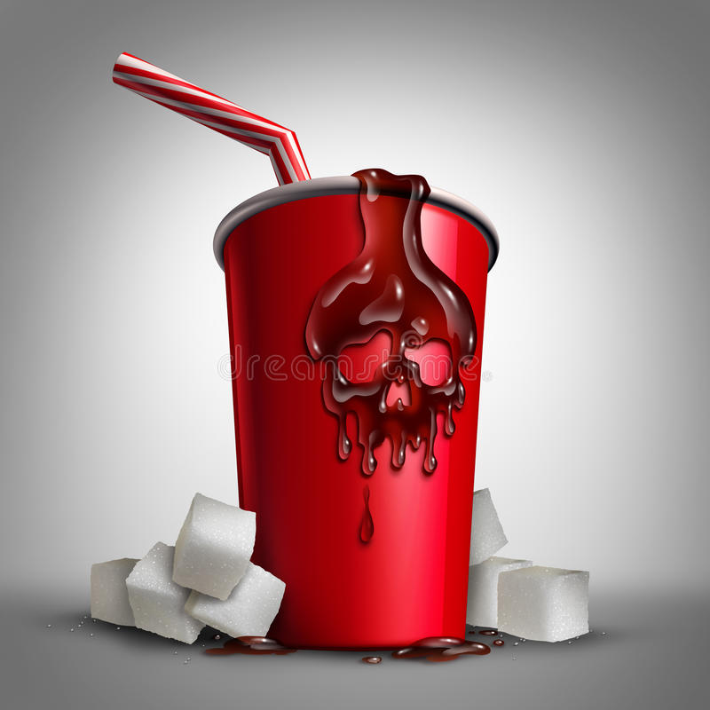 Sodowany Cukrowy ryzyko royalty ilustracja