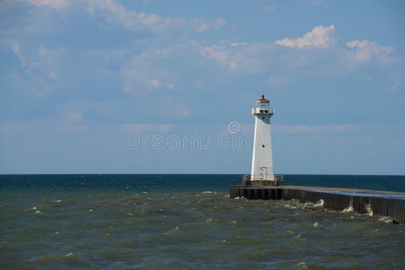 Sodus Outer Lighthouse on Lake Ontario stock image