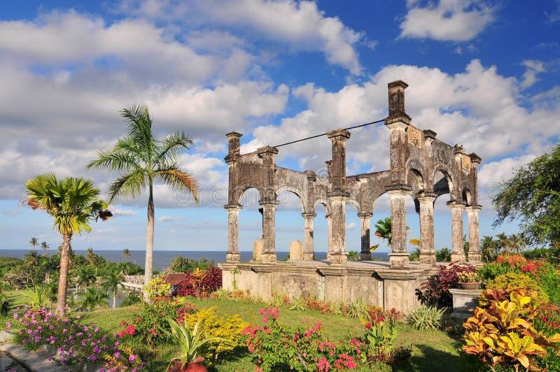 Soekasada park at the Karangasem water temple in Bali, Indonesia.  stock photography