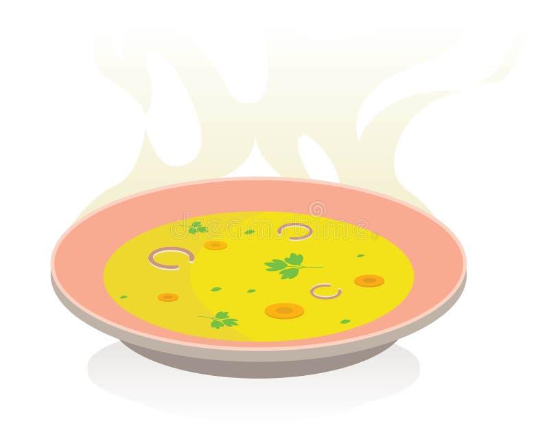 Soep met groenten vector illustratie
