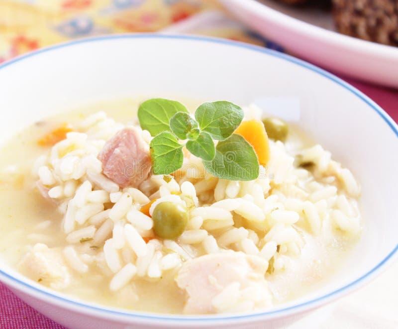 Soep van rijst stock afbeelding