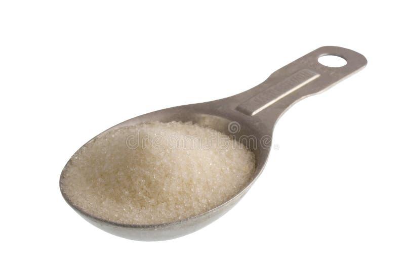 Soeplepel van witte suiker royalty-vrije stock foto
