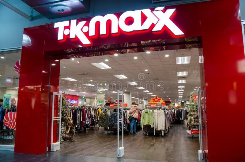 Soest, Alemania - 17 de diciembre de 2018: T K Tienda de Maxx imagen de archivo