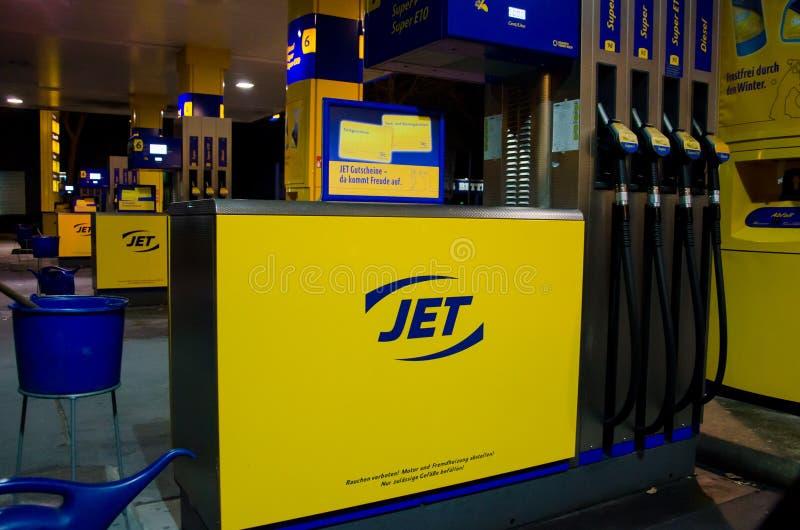 Soest, Allemagne - 27 décembre 2018 : Poste d'essence de jet image stock