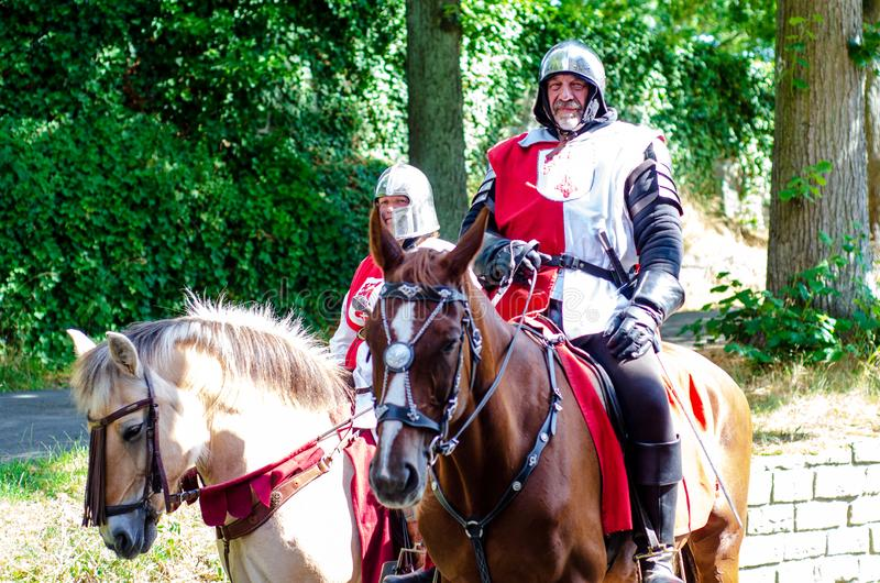 Soest, Germany - August 4, 2019: Medieval festival participants Soester Fehde 2019 royalty free stock images
