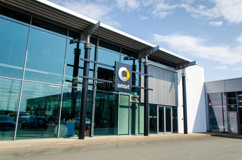 Soest, Germany - August 2, 2019: SMART Car showroom. Smart is a German automotive brand and division of Daimler AG stock photos