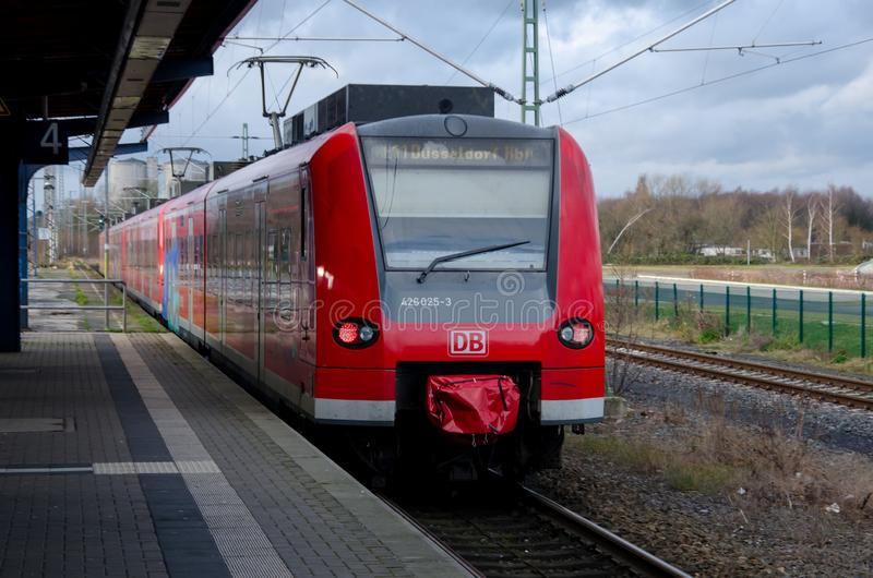 Soest, Germany - December 26, 2017: DBAG Class 425 train Deutsche Bahn Regional Train at the railway station royalty free stock images