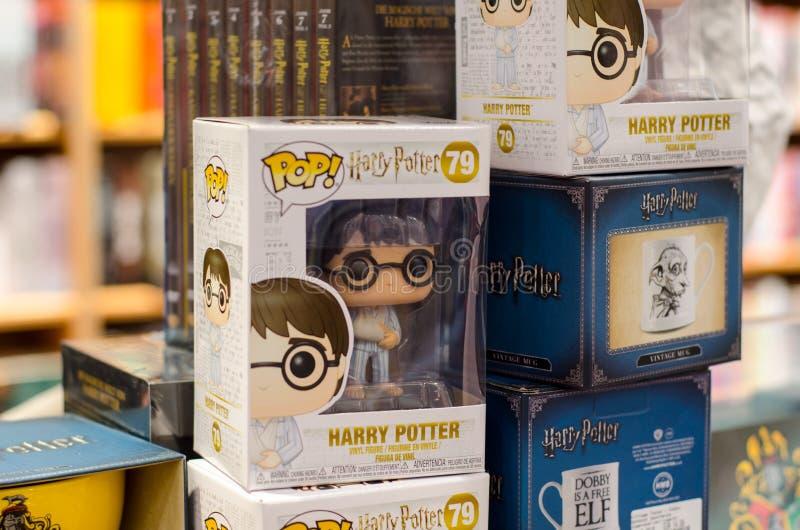 Soest Tyskland - Januari 8, 2019: Funko POP! Harry Potter arkivfoto