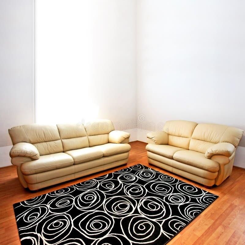 sofà di cuoio fotografie stock libere da diritti
