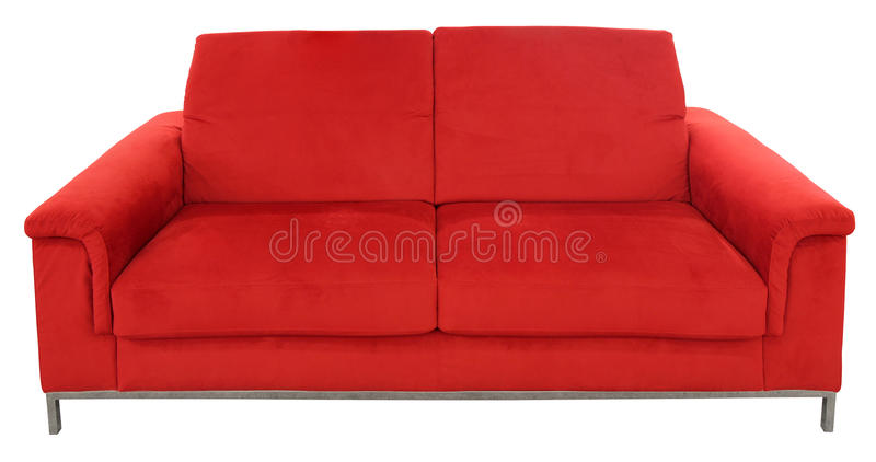 Sofà di Seat di rosso due fotografia stock libera da diritti