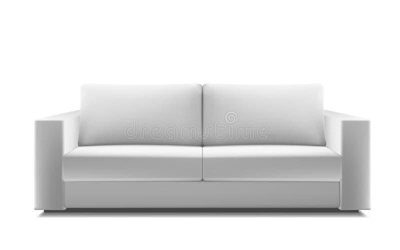 Sofà moderno bianco realistico royalty illustrazione gratis