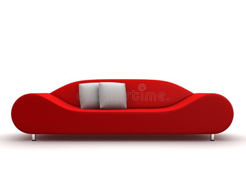 Sofà rosso illustrazione vettoriale